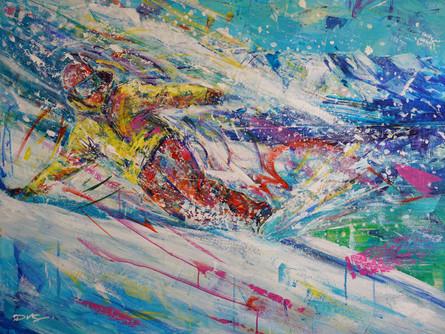 Edge of Heaven . 30 x 40 . acrylic