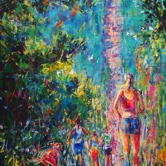 MORNING ASCENT  36X24X2 ACRYLIC $3,300 Sold