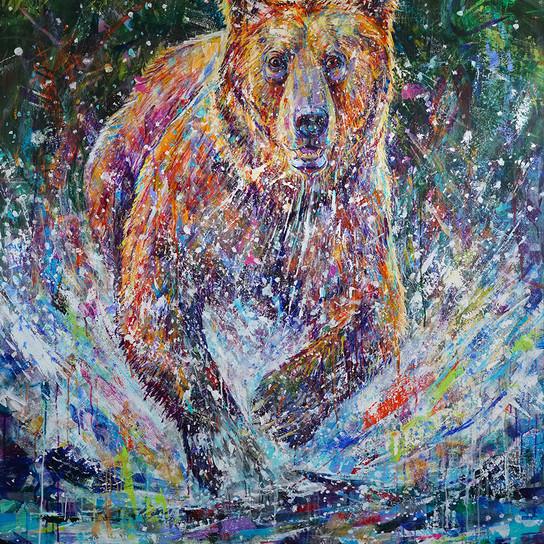 Water Spree . 60x48 . acryl;ic