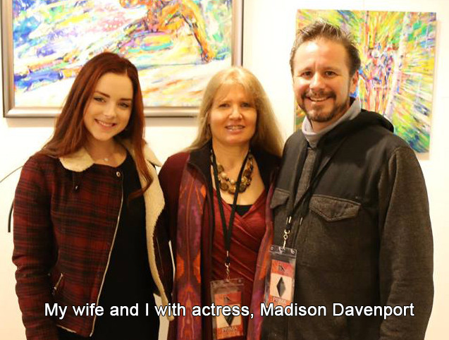 With my wife and actress Madison Davenport
