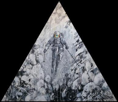 "Transcend . 48"" triangle . acrylic"