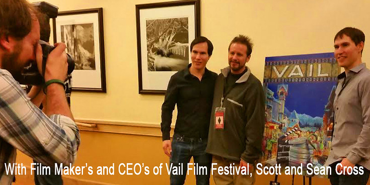 With film makers and CEO's of the Vail Film Festival, Sean and Scott Cross