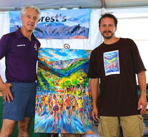 With Ron Ilgen of the Pikes Peak Marathon