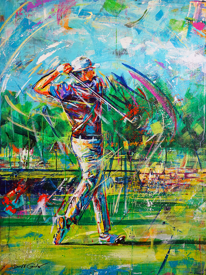 Hit the Fairway . 40 x 30 . acrylic