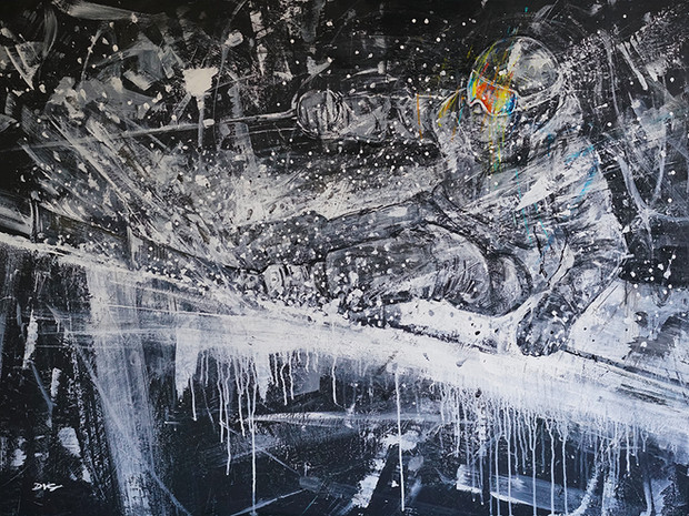 The Rush . 36 x 48 . acrylic