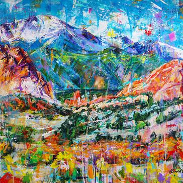 Autumn of the Gods acrylic 30x40x2 $4,500 Sold