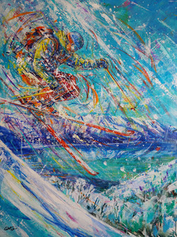Tahoe Elation . 48 x 36 . acrylic