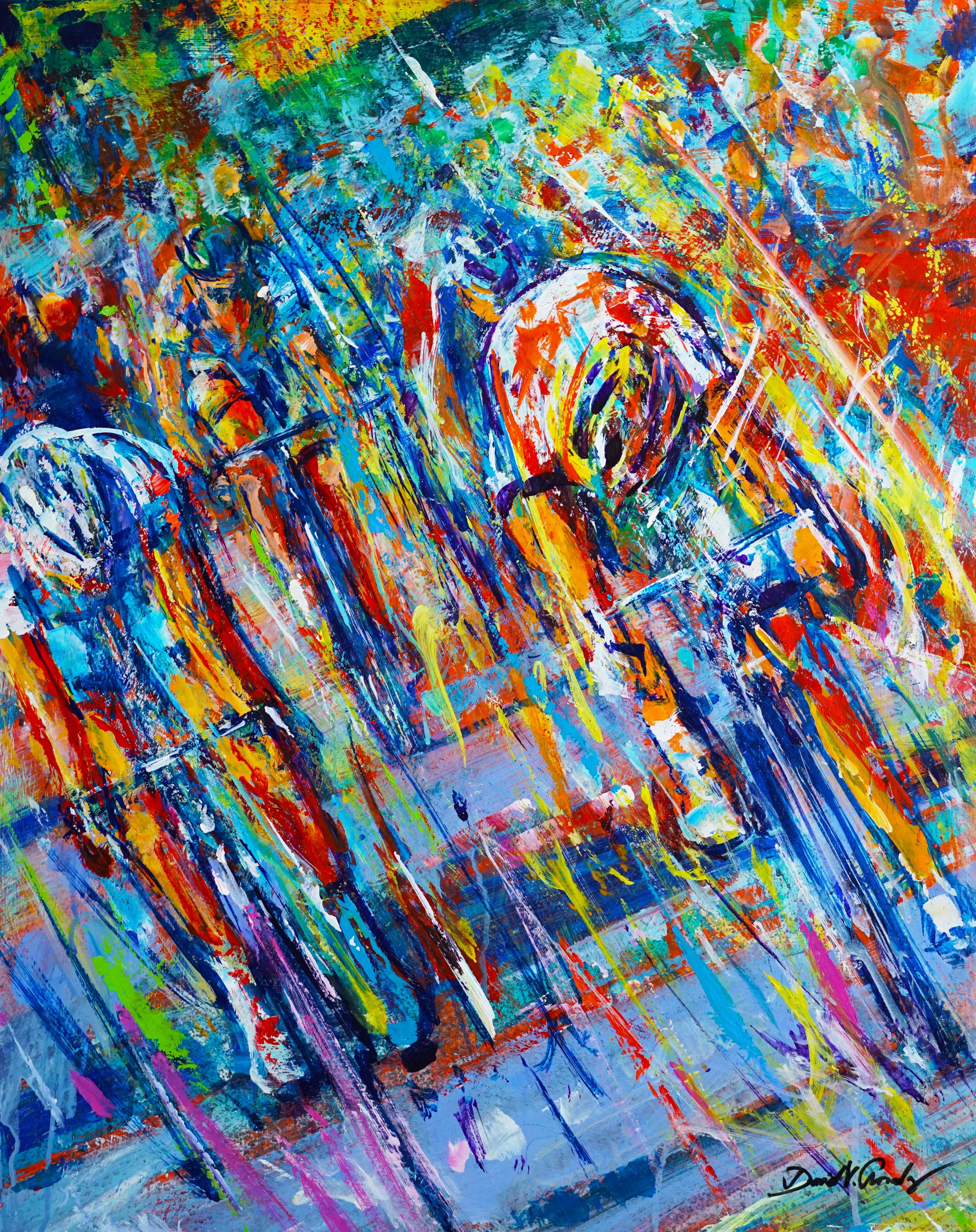 Thrash . 30 x 24 . acrylic