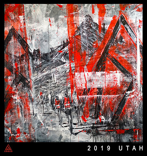 "10x11 ""Final Ascent 2019 UTAH""  fine art print on metal"
