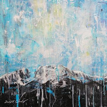 Luminous Peak acrylic 24x24x2 $2,600