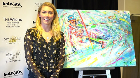 Mikaela Shiffirn sends message to a fan whose parents commissioned a painting of Shiffrin for their daughter.