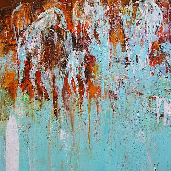 Buffalo Kin . 36 x 24 . acrylic