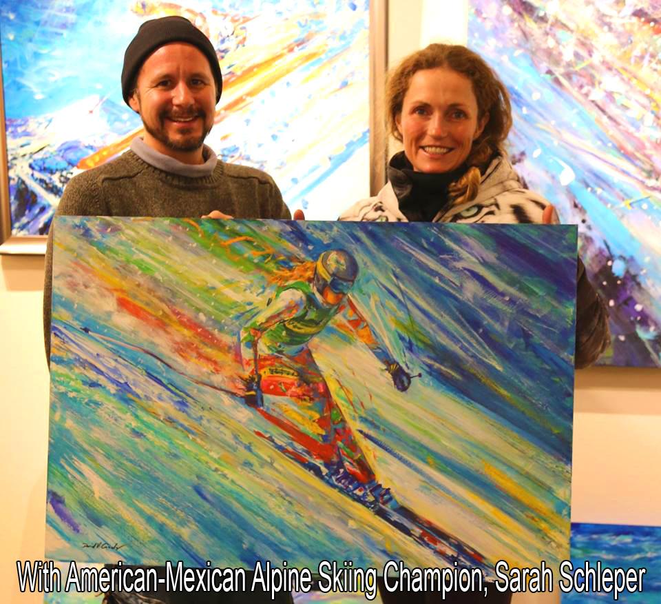 With Olympian alpine skier, Sarah Schleper