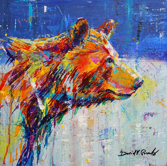 BEAR STUDY 16X16X2 ACRYLIC $1,600 Sold