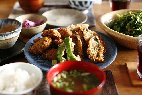 Furai : Deep-fried Panko crumbled Pike fillets Teishoku