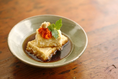 Agedashi Tofu : Deep-fried Tofu with dashi gravy Teishoku (V)
