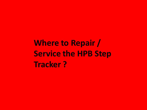 Where to fix, repair, replace, buy the HPB Step Tracker Band  ?