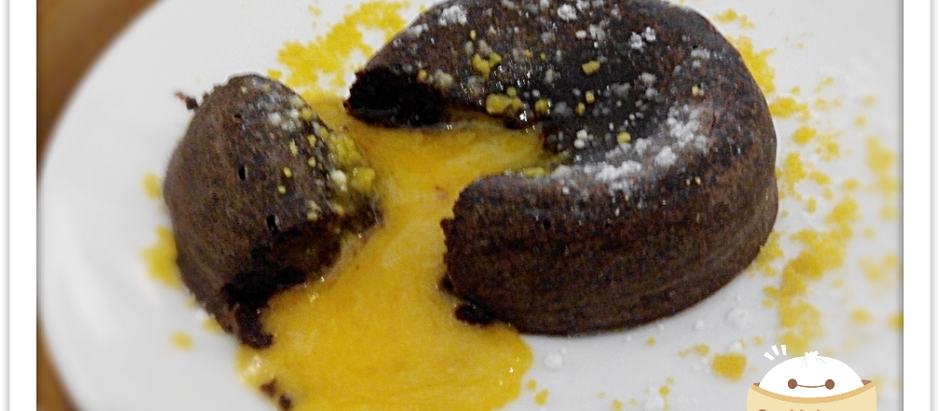 Stunned by a salted egg chocolate lava cake
