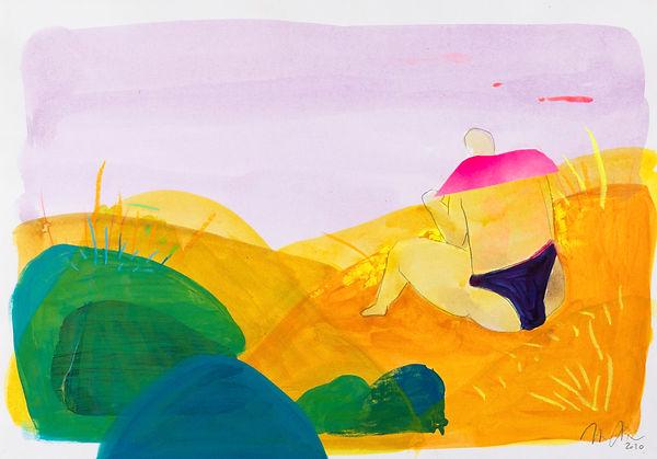 "Marion Dieterle ""Strand"" 2020 - aus der Reihe ""lines, colours and light"""