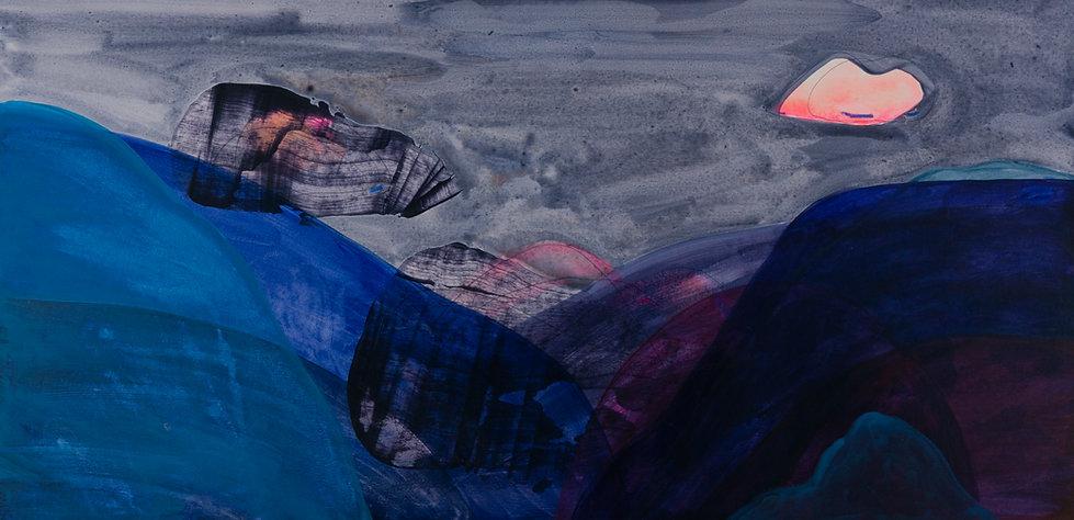 "Marion Dieterle ""big blue"" 2020 - aus der Reihe ""lines, colours and light"""