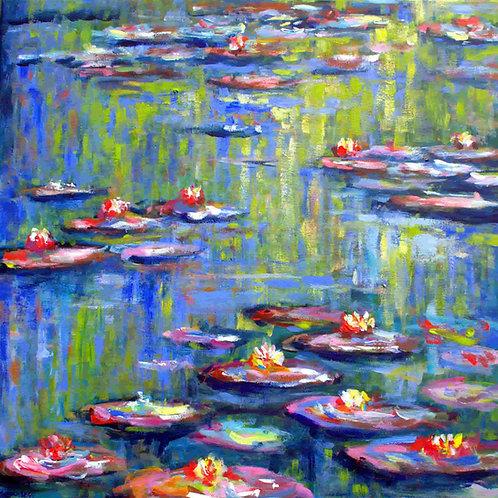 Water lilies in Monet's garden (2017)