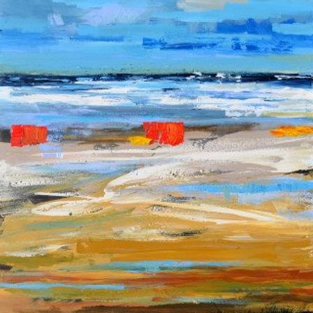 Colourful beach Domburg