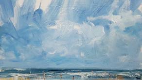 Summer beach sketches