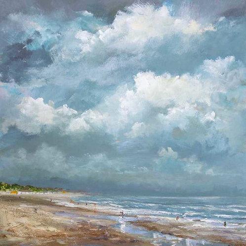 Art print Vrouwenpolder Beach 1 July 2016