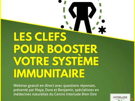Webinar gratuit les clefs pour booster votre système immunitaire