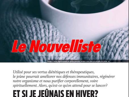 Dossier Le Nouvelliste : et si je jeûnais en hiver ?
