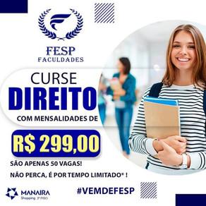 ÚLTIMOS DIAS PARA MATRÍCULA 2021.2, COM VALOR DE R$ 299,00!