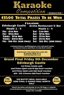 Karaoke Competition Prize Money Dates Infromation