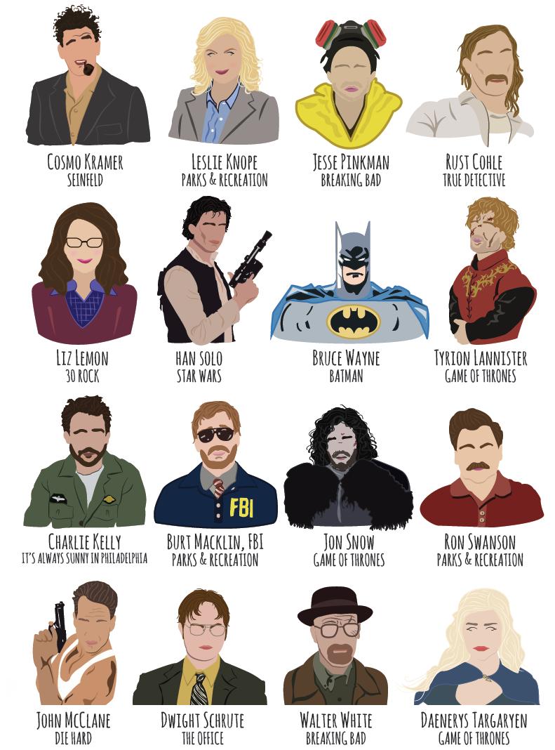 tv character illustrations
