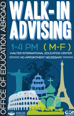 Walk In Advising Poster