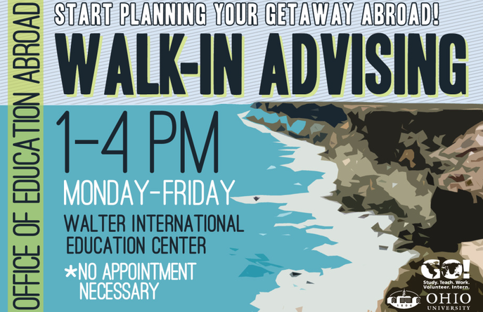 Walk-In Advising Poster, Sping