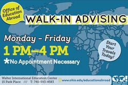 Walk-In Advising Poster, Fall