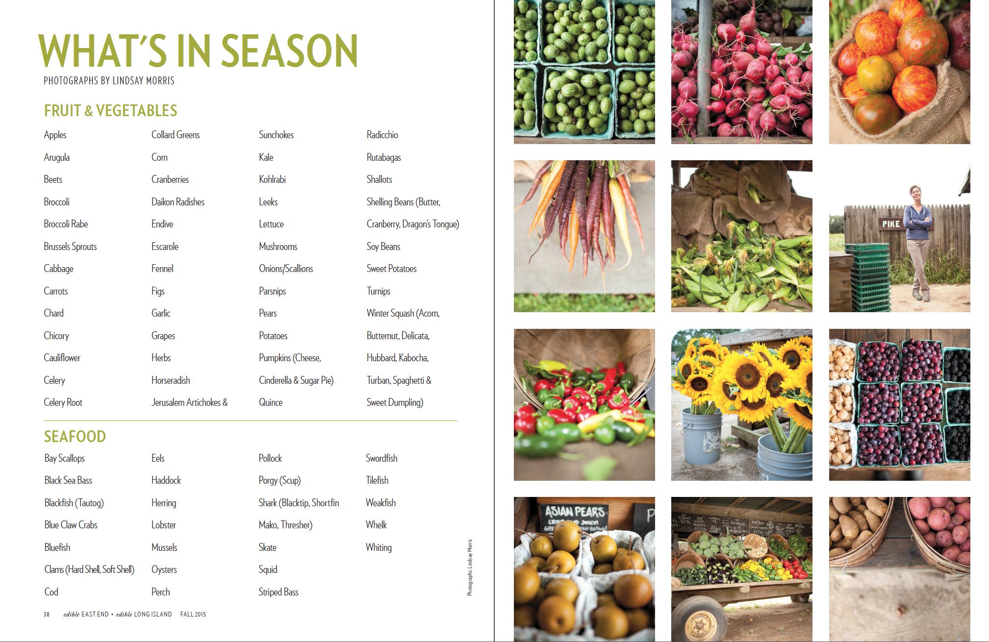 What's In Season List