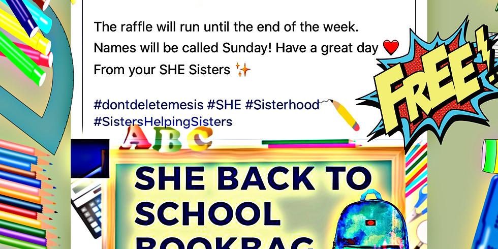 #SHEgotYourBack..FREE Back Pack Raffle!