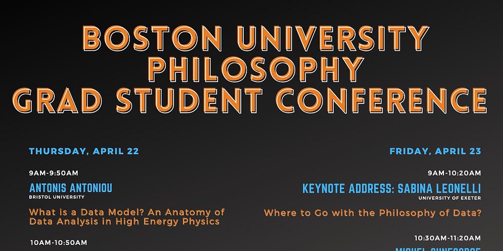 Boston University Graduate Student Philosophy Conference: Philosophy of Science