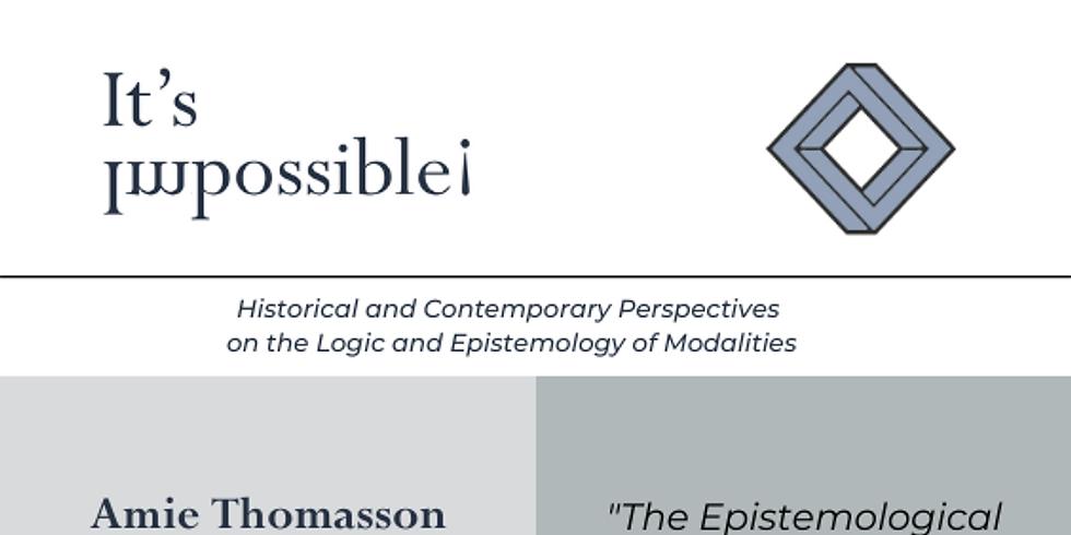 "Amie Thomasson - ""The Epistemological Advantages of Modal Normativism"""