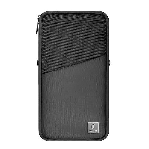WiWU Travel Wallet Mate Passport Holder, Passport Holder with Hand&Strap