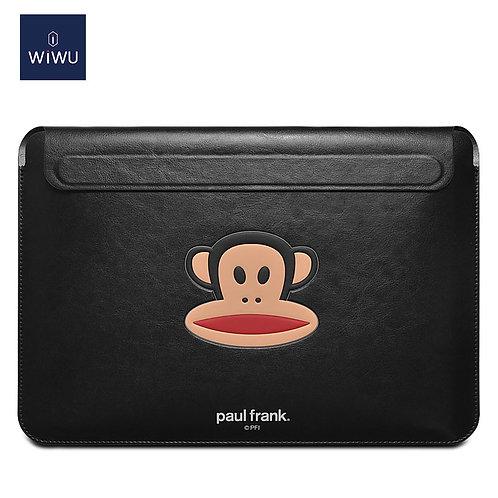 WiWU×Paul Frank Skin Pro Slim Laptop Sleeve PU Leather Waterproof  Briefcase