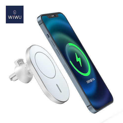 WiWU New Liberator 15W Magnetic Wireless Car Charger for iphone 12 series