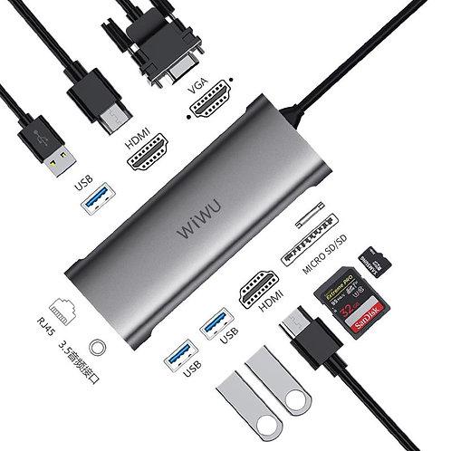 A11312H hub, 10 in 1 hub.USB C Hub HDMI Adapter
