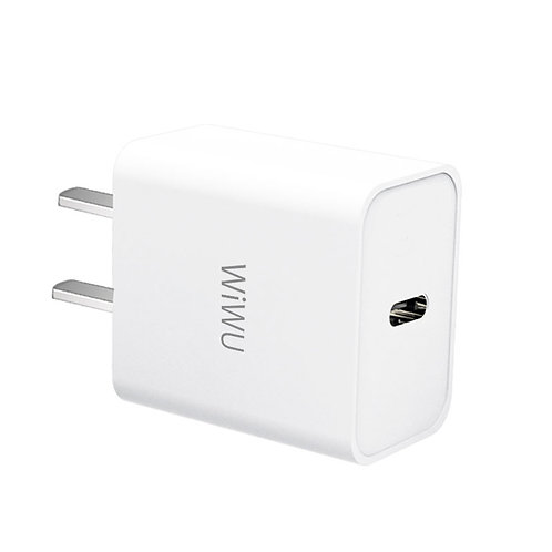 WiWU RY-U65 Wall Charger Type C Power Adapter 20W PD super fast for iphone 12