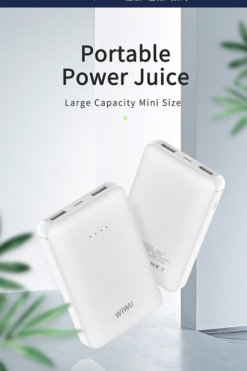 WiWU Portable Charger 10000mAh Power Bank