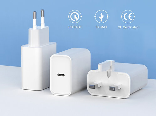 WiWU RYU56 20w Dual Port Plug Adapter Phone Pd Fast Charger Type-c Mobile QC
