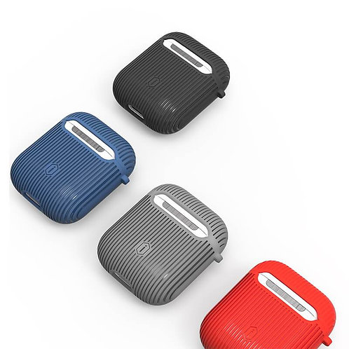 vertical stripe airpods protect case