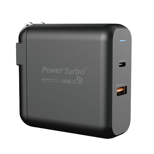 WiWU PT6021 type-c black 60W fast charging wall charger for tablet and laptop