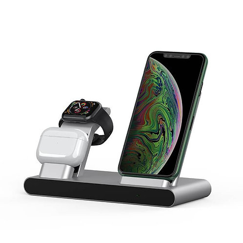 Power Air, Fast 3 in 1 Wireless Charging Station for iPhone Apple Watch AirPods